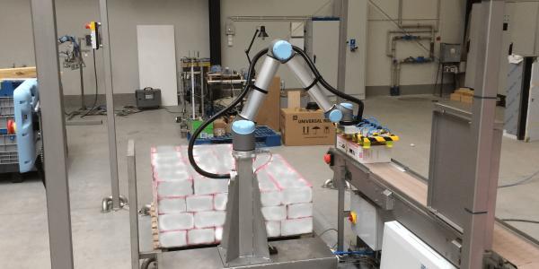 Stanowisko automatycznej paletyzacji